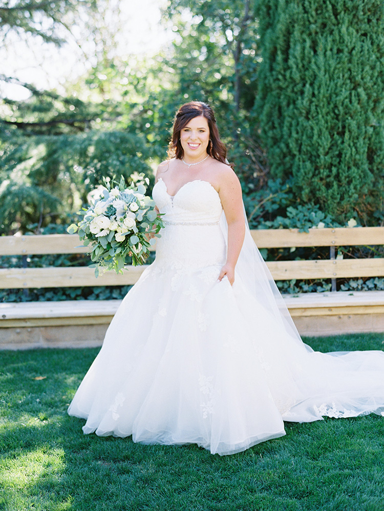 lace & tulle wedding gown with a sweetheart neckline from The Wedding Shoppe