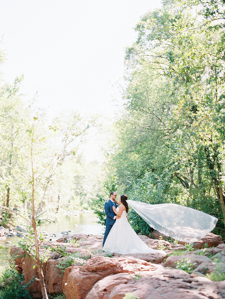 sweet bride & groom in Sedona