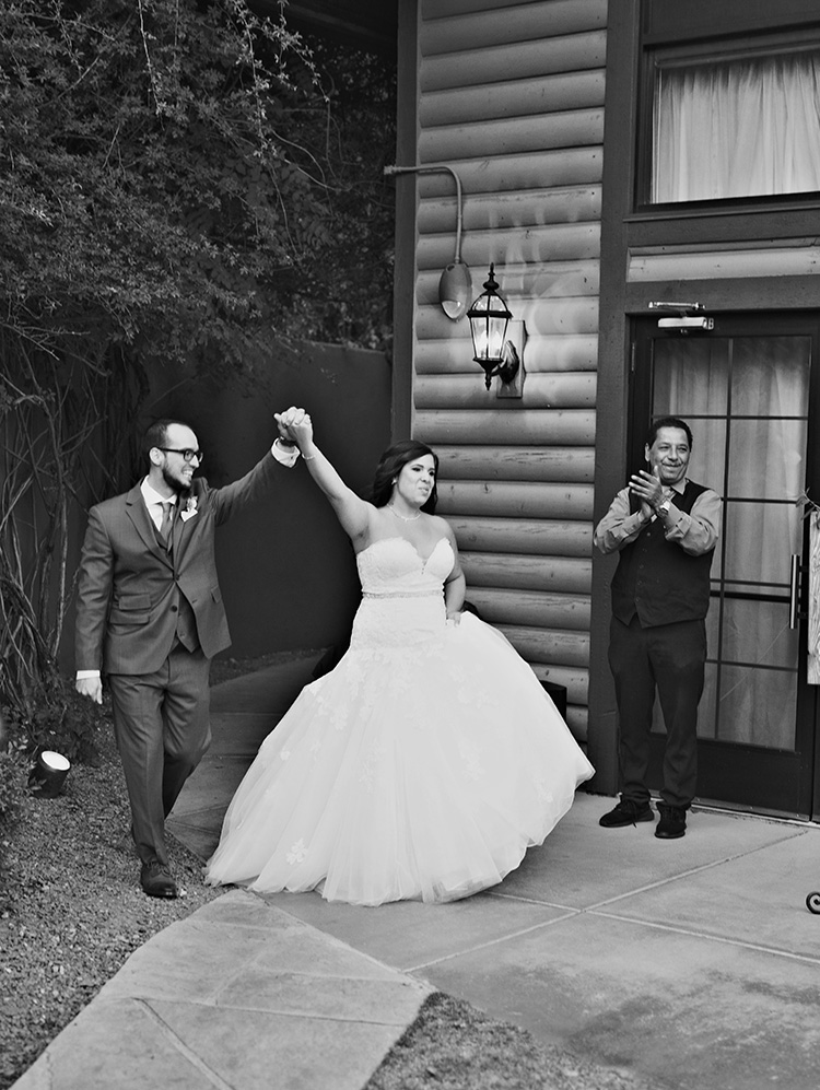 introducing the happy couple, Sedona wedding