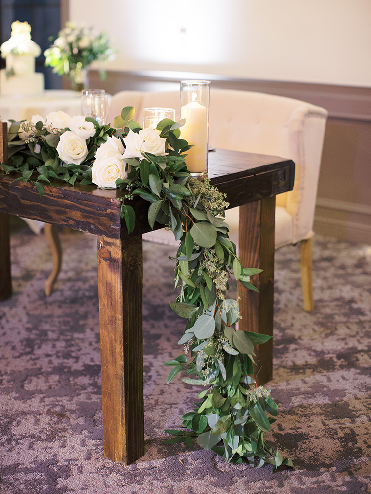 elegant wedding reception with greenery, L'Auberge de Sedona