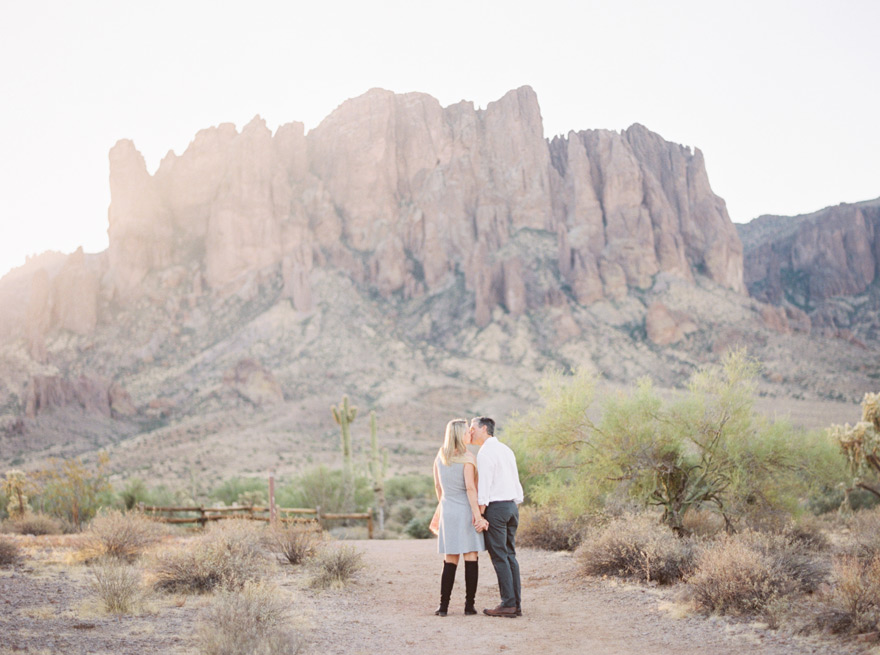 Arizona desert engagement shoot at Lost Dutchman