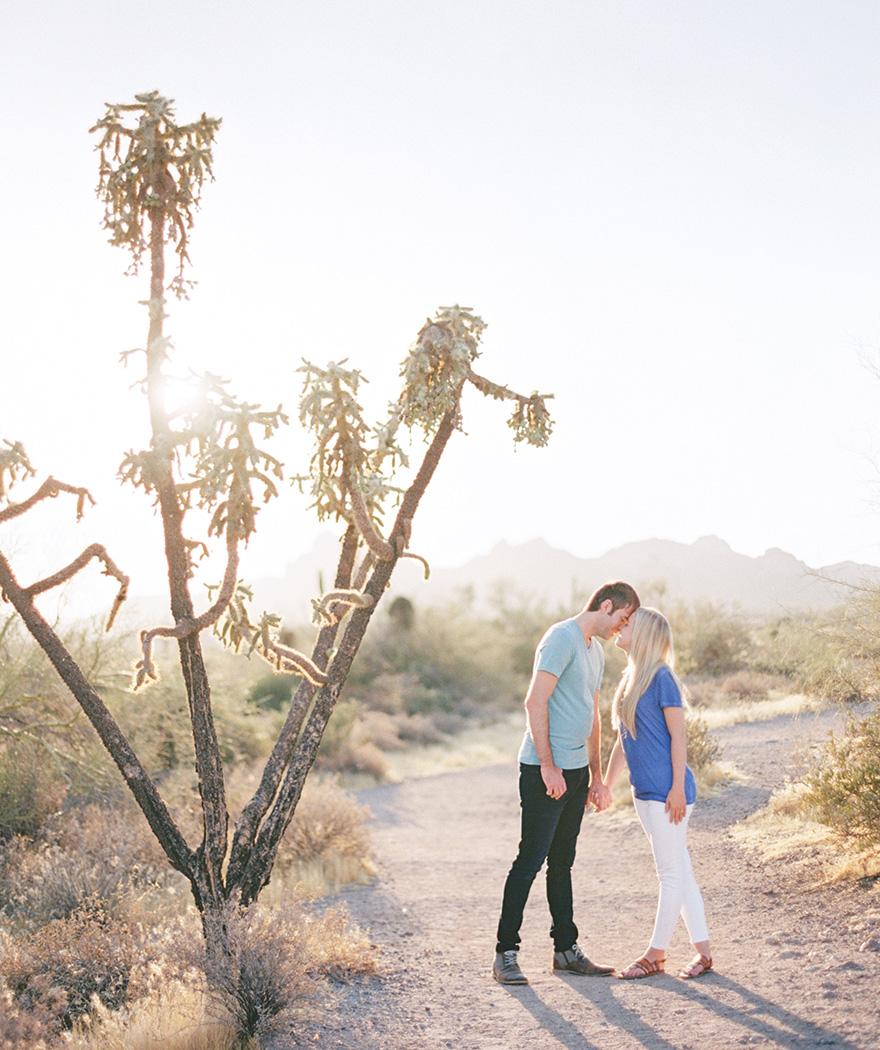 Lost Dutchman State Park Sunrise Engagement Shoot