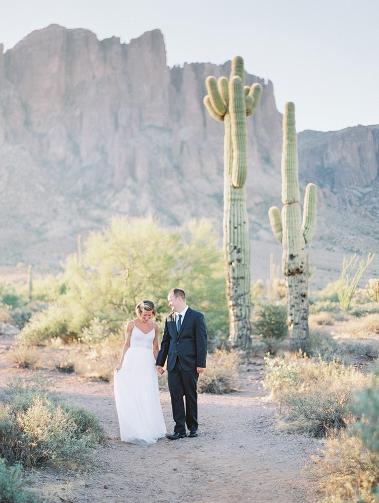 Lost Dutchman State Park Sunrise Engagement Shoot