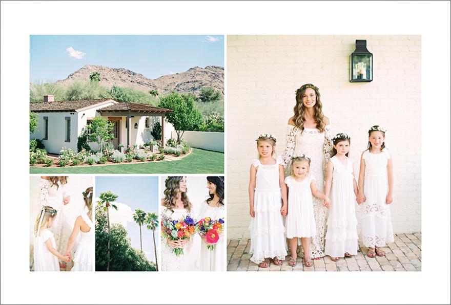 wedding album spread designed by Align Album Design