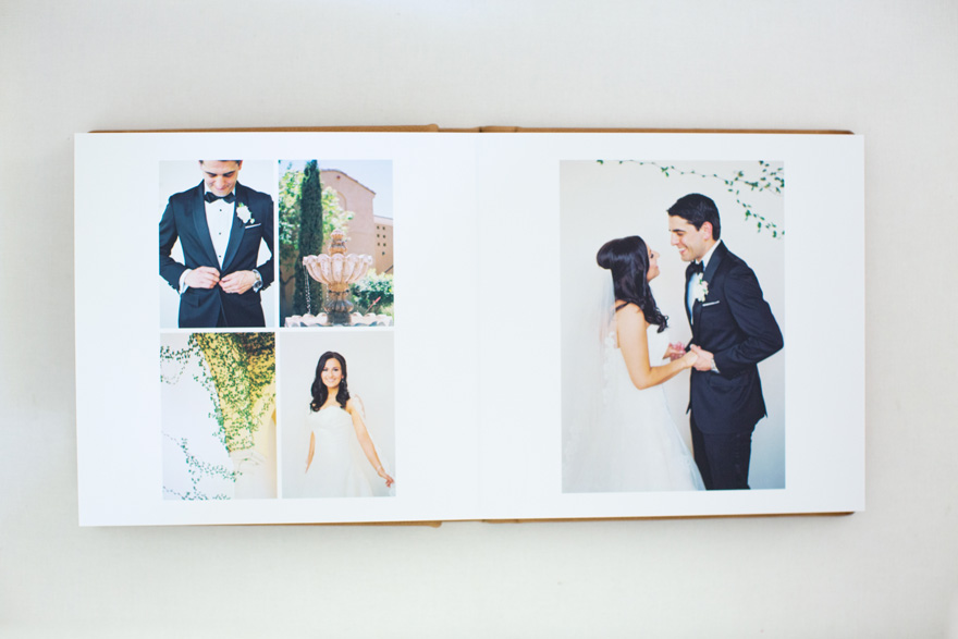 Align Album Design wedding album for Melissa Jill Photography; Omni Montelucia Wedding