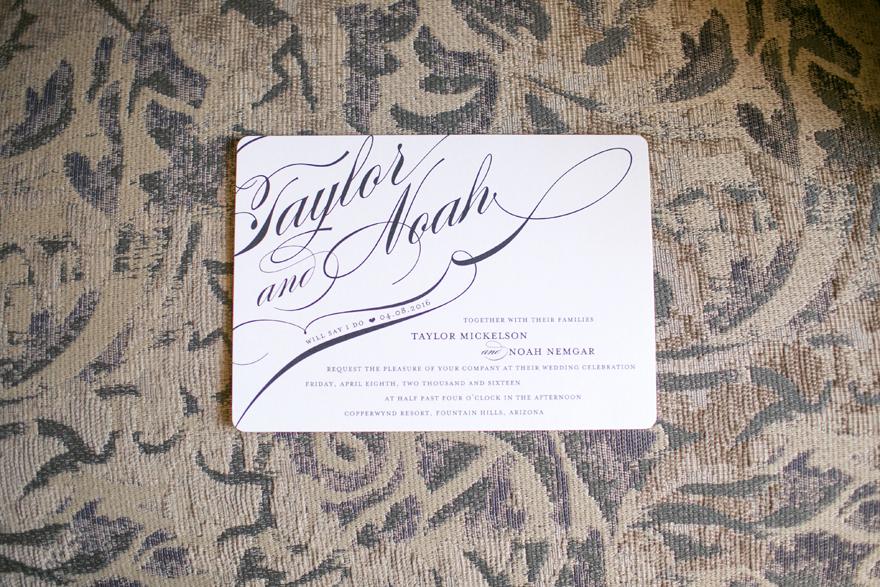 Elegant and stylish wedding invitation, modern typography and design.