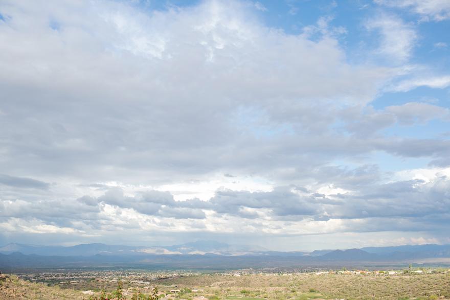 Wide open horizons in the Arizona desert