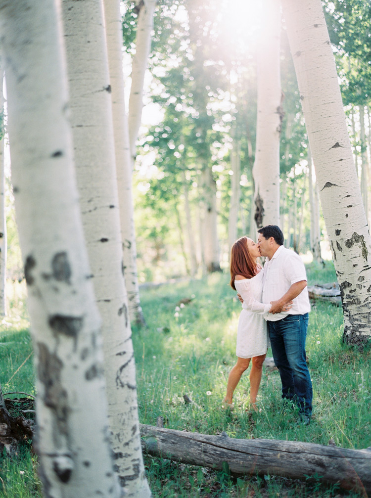 Aspen forrest engagement photos