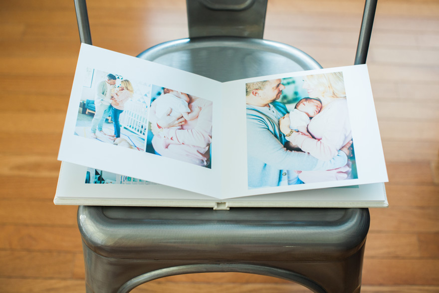 Align Legacy Book -- Melissa Jill Newborn Lifestyle Photos