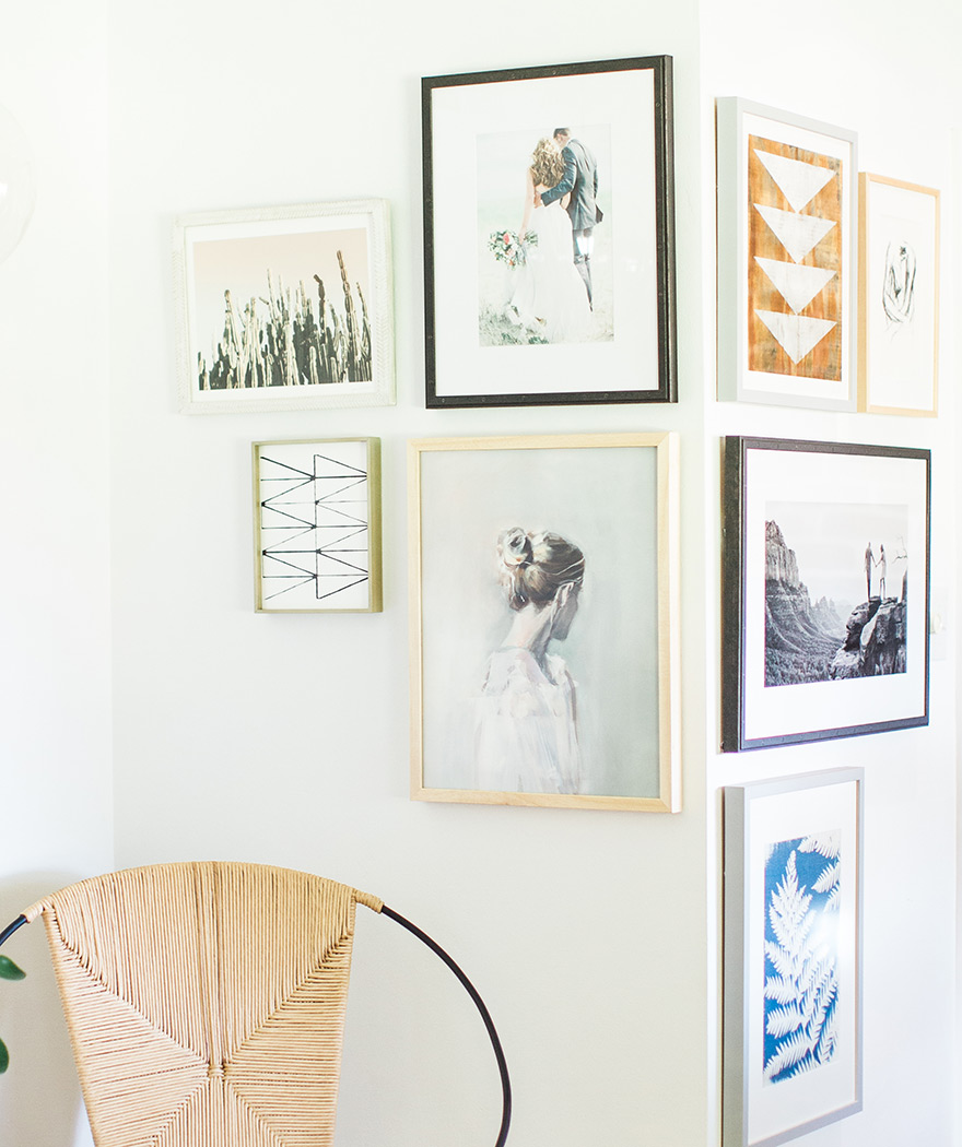 asymmetrical gallery wall