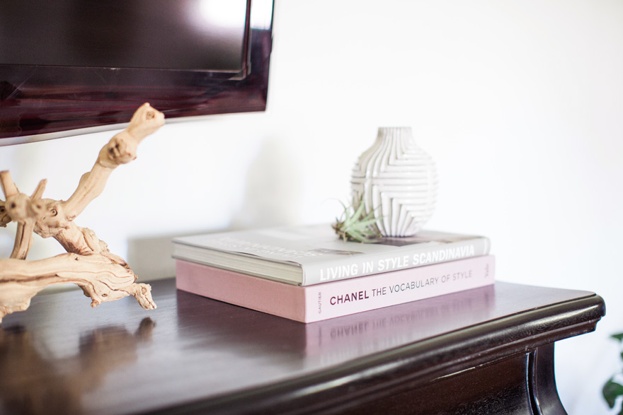 coffee table books as decor