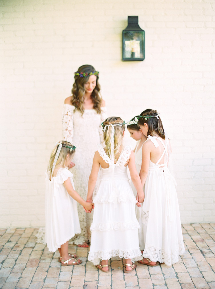 bohemian flower girl dresses by Dreamers and Lovers