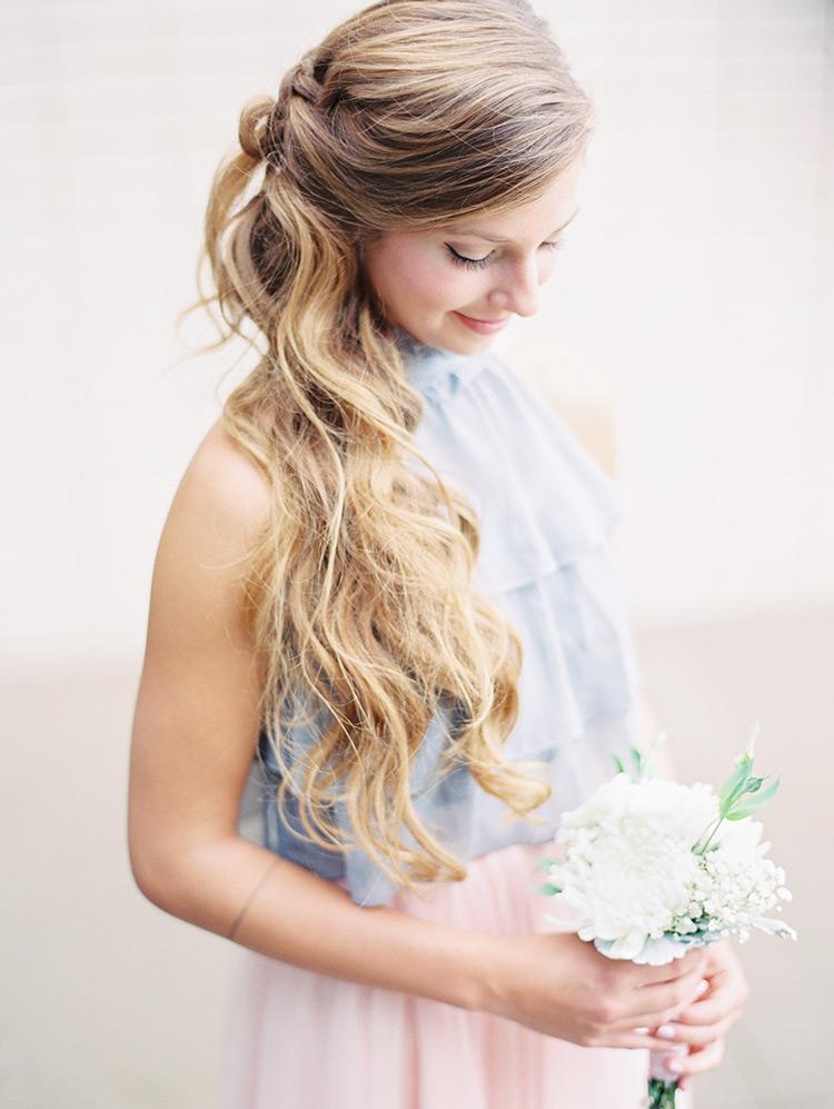 gorgeous bridesmaid hair style