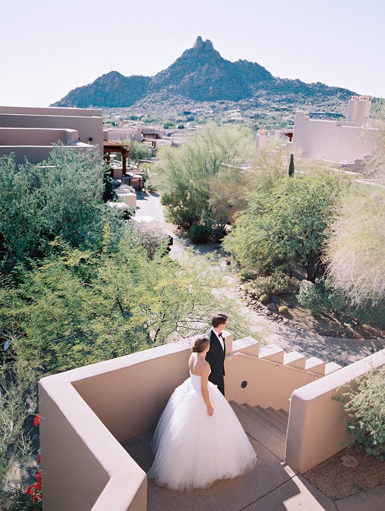 desert wedding at the Four Seasons Scottsdale Troon North