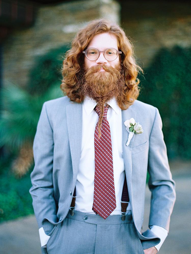 groomsman with a braided beard