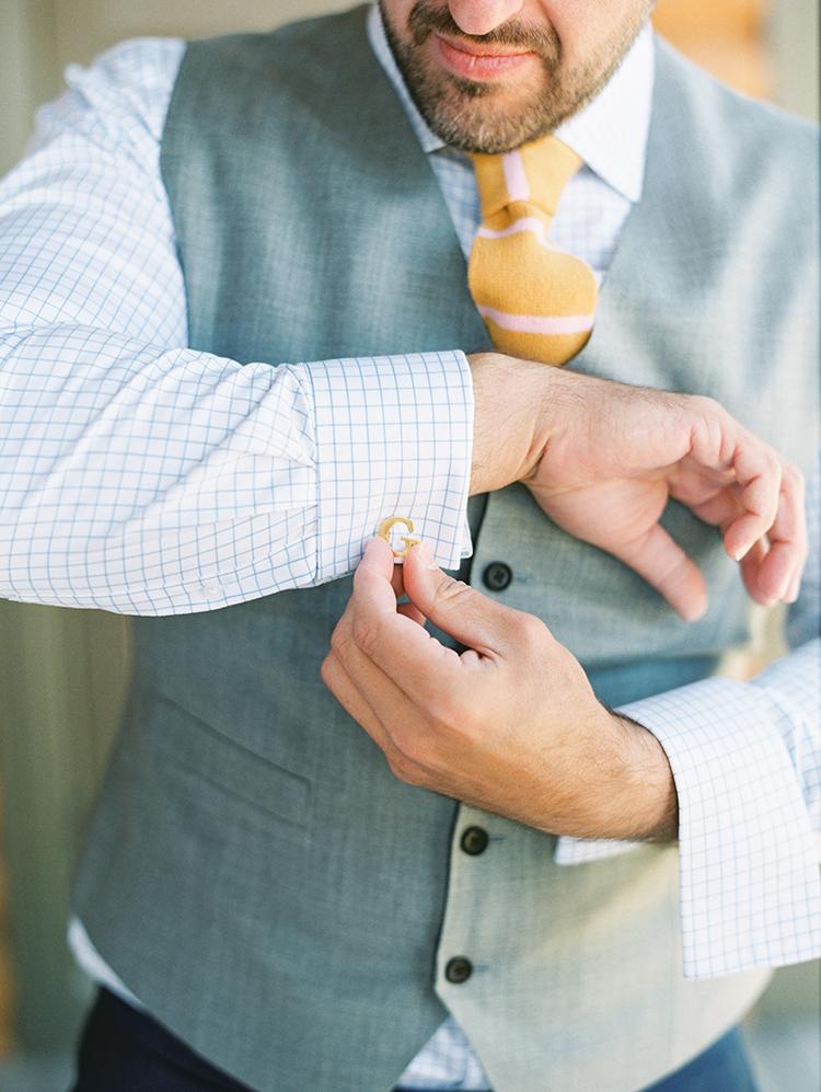 custom three-piece suit for the groom