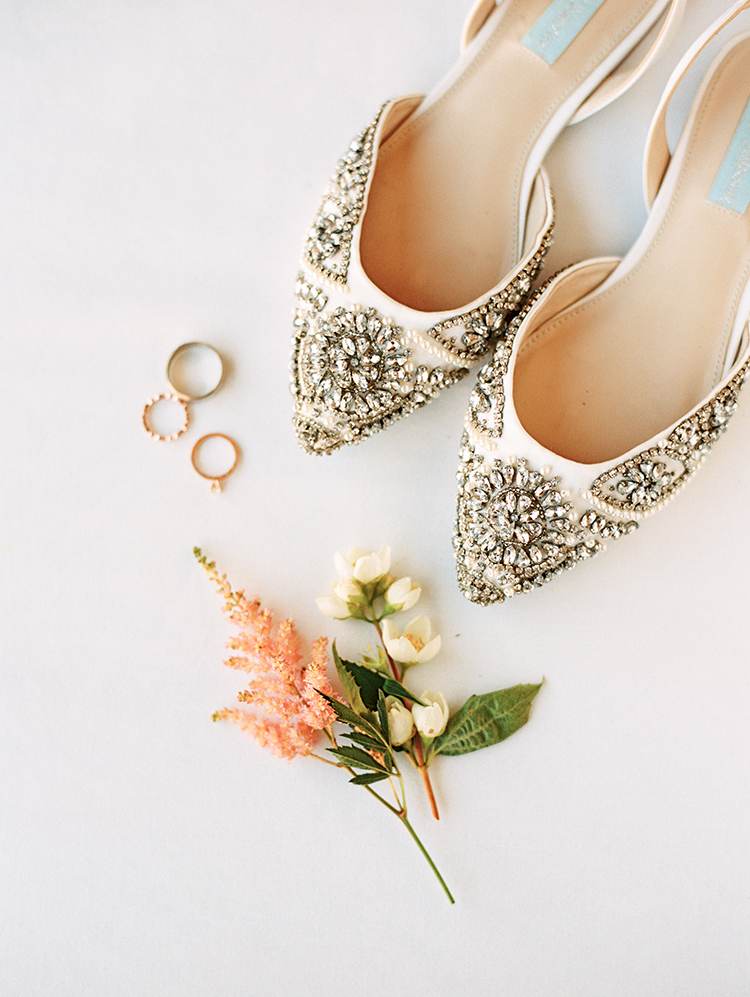 jeweled wedding shoes by Betsey Johnson