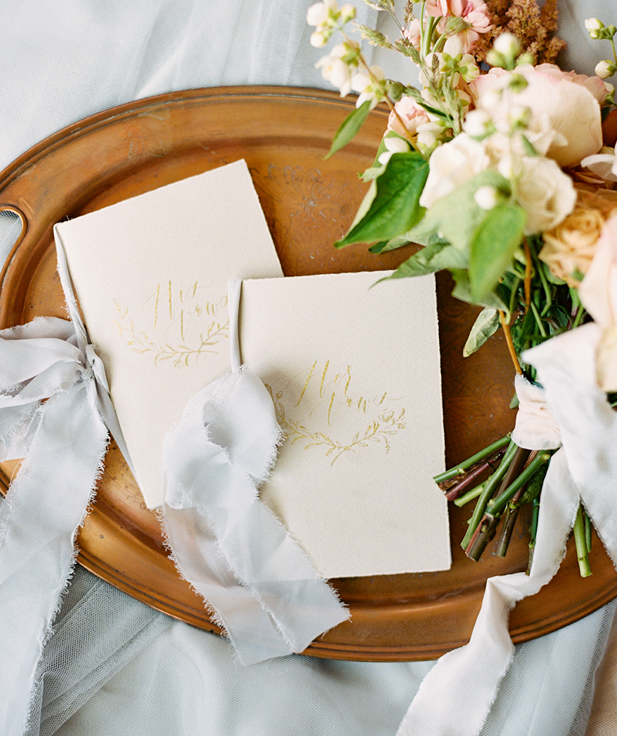 vow booklets by Art + Alexander