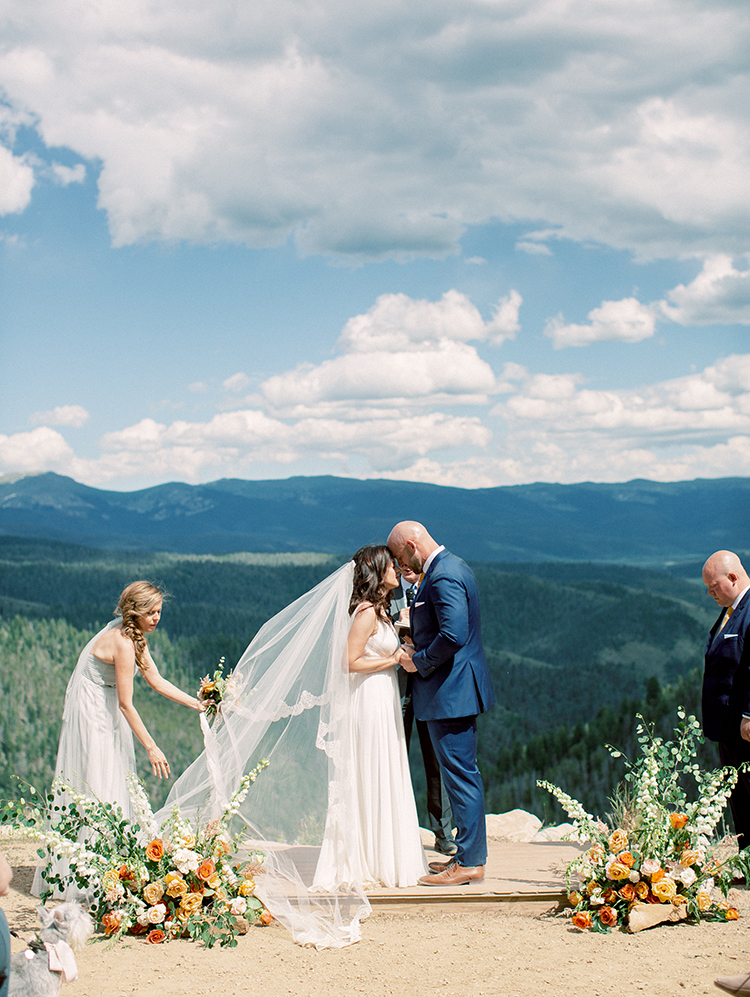 mountaintop Colorado wedding