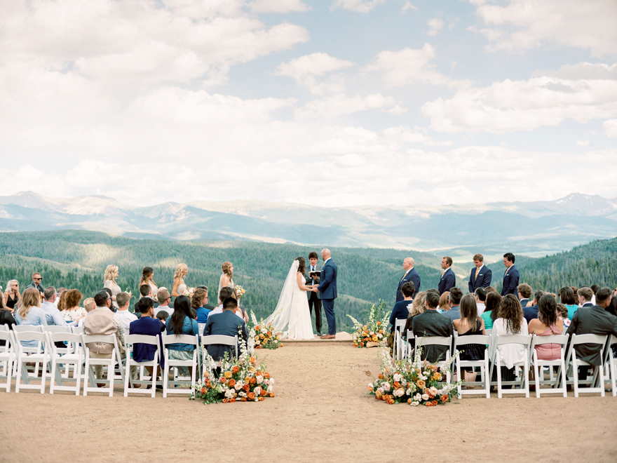 Colorado wedding with a stunning mountain view