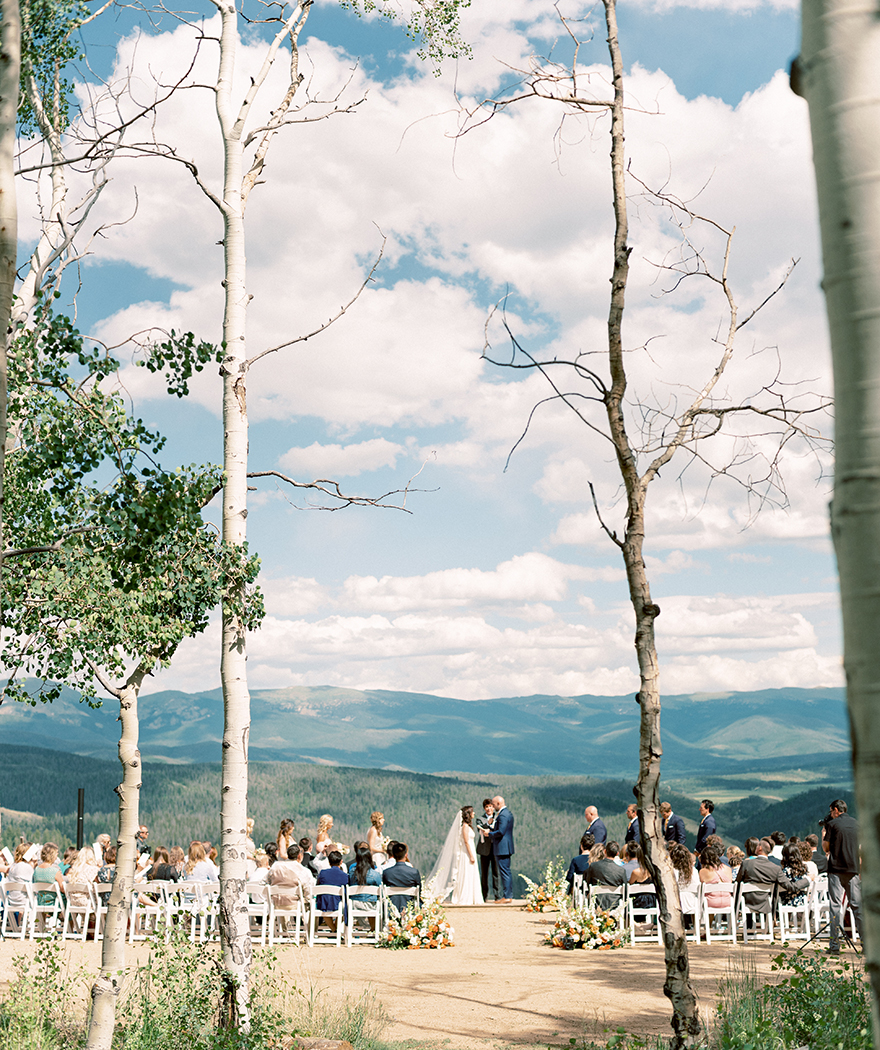 stunning mountain view as the couple exchange vows