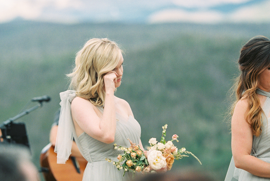 bridesmaid in Jenny Yoo dress moved to tears