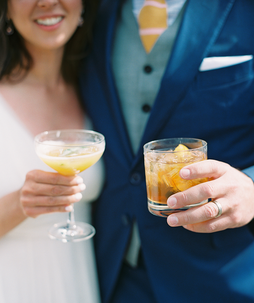 signature cocktails for the bride & groom