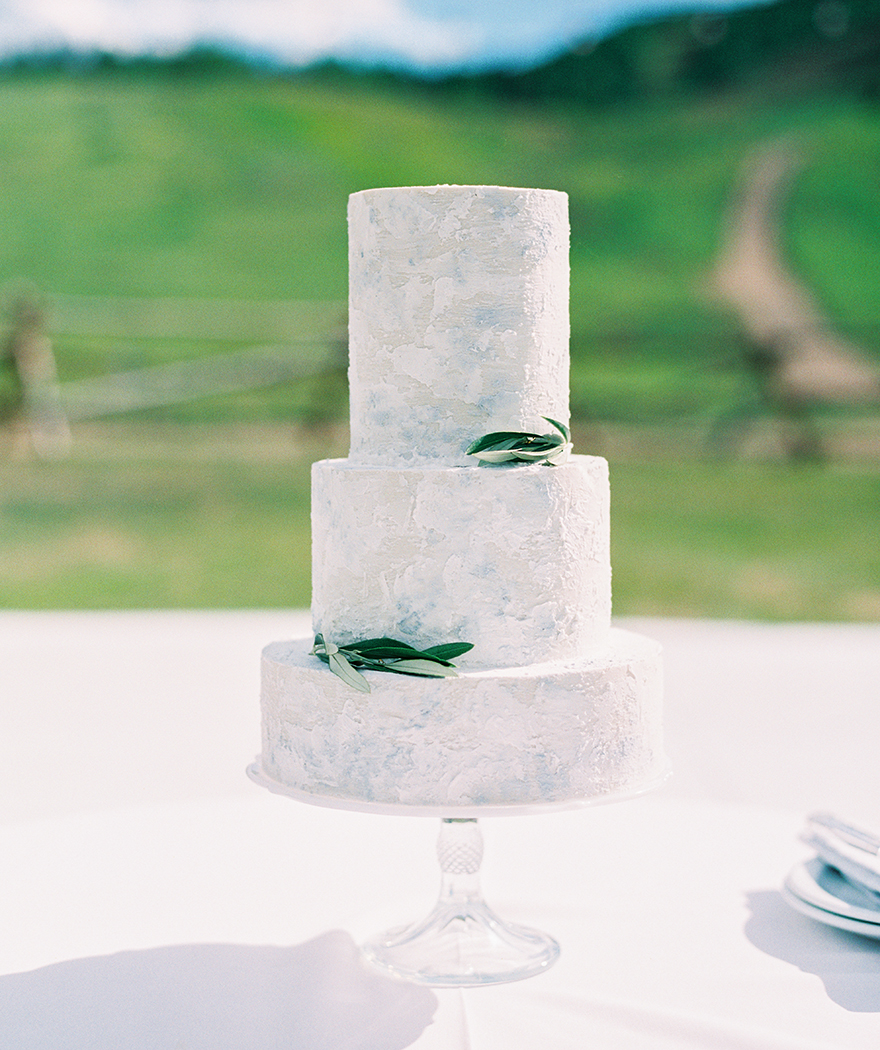 minimal modern wedding cake by Megan Joy Cakes