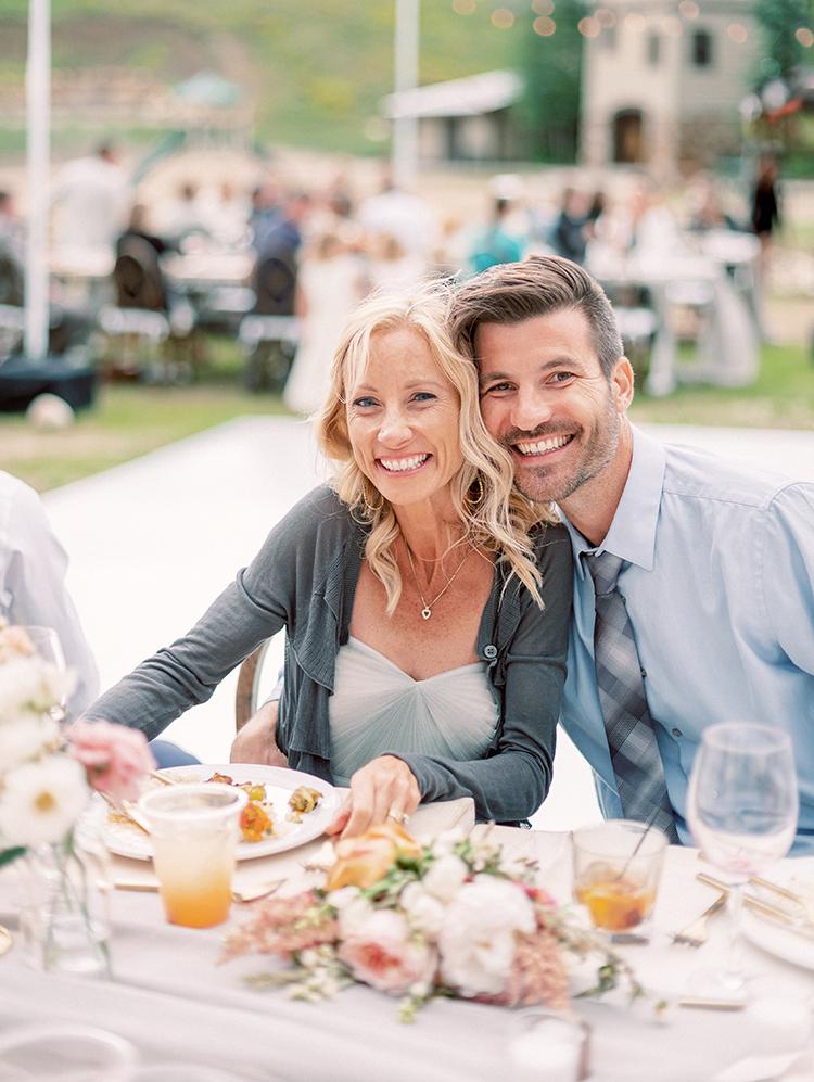 outdoor wedding reception at Granby Ranch, Colorado