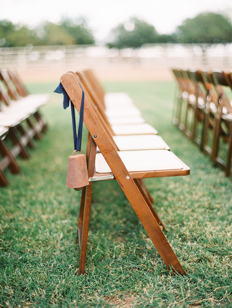 outdoor wedding ceremony on a family farm