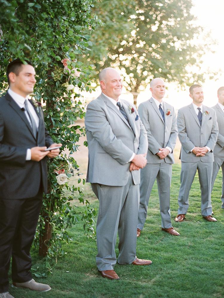 groom in gray