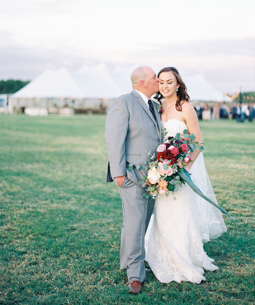 outdoor wedding on a family farm
