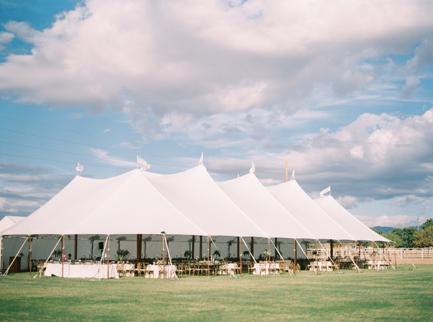 tented outdoor wedding reception