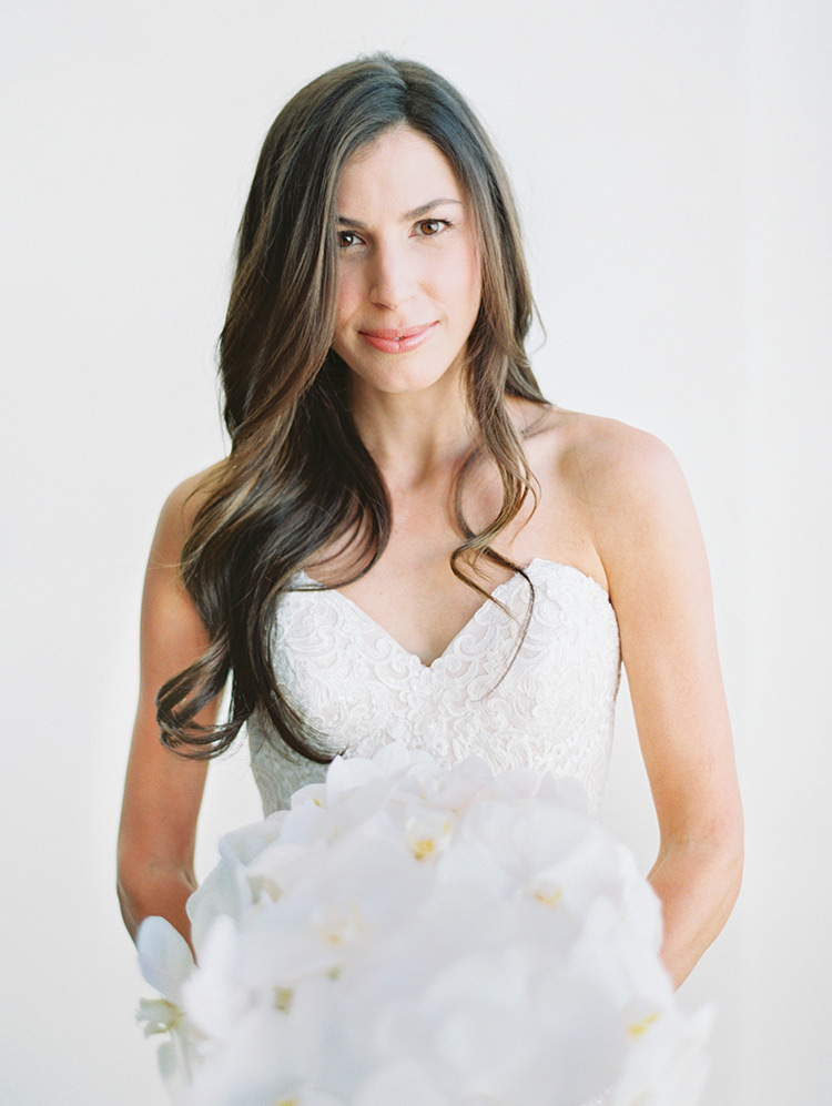 bridal beauty in white lace