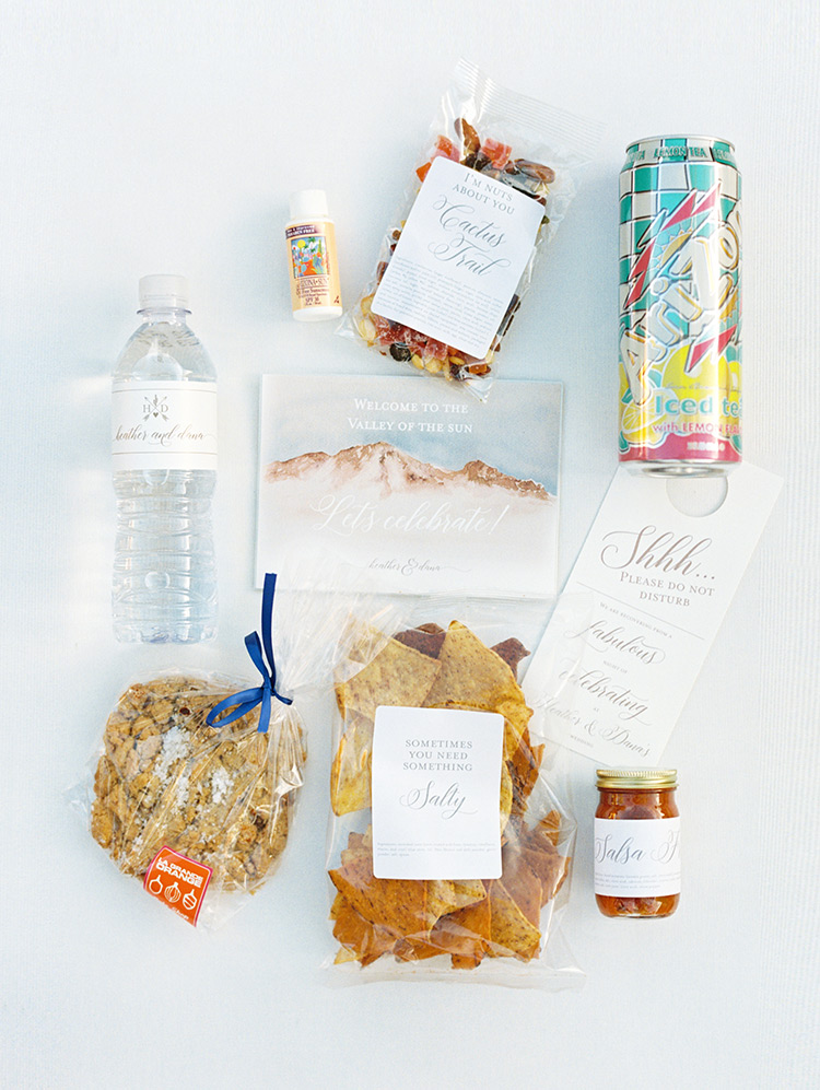 welcome bag for wedding guests