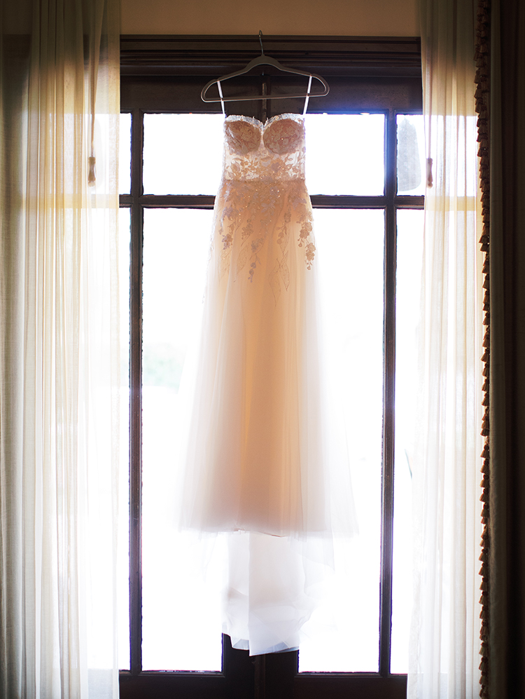 lace & tulle gown by Mira Zwillinger