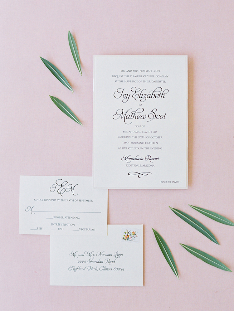 classic & elegant wedding invitations