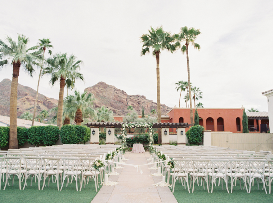outdoor wedding ceremony at Montelucia
