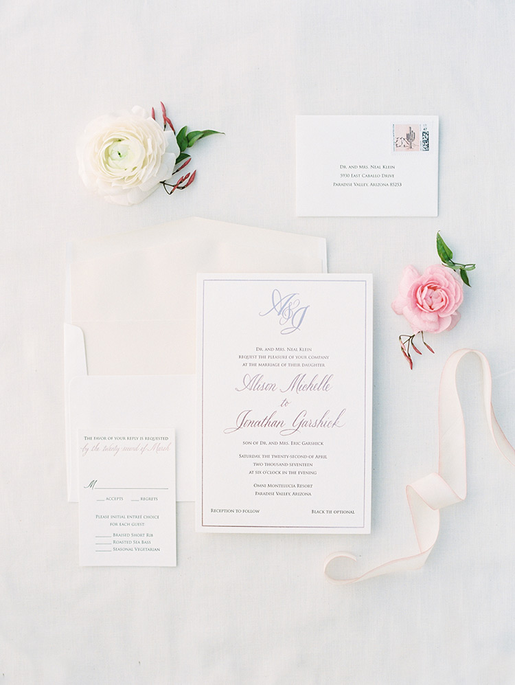 elegant and modern wedding invitation