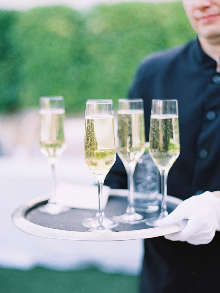 champagne at an elegant wedding at Omni Scottsdale Resort & Spa at Montelucia