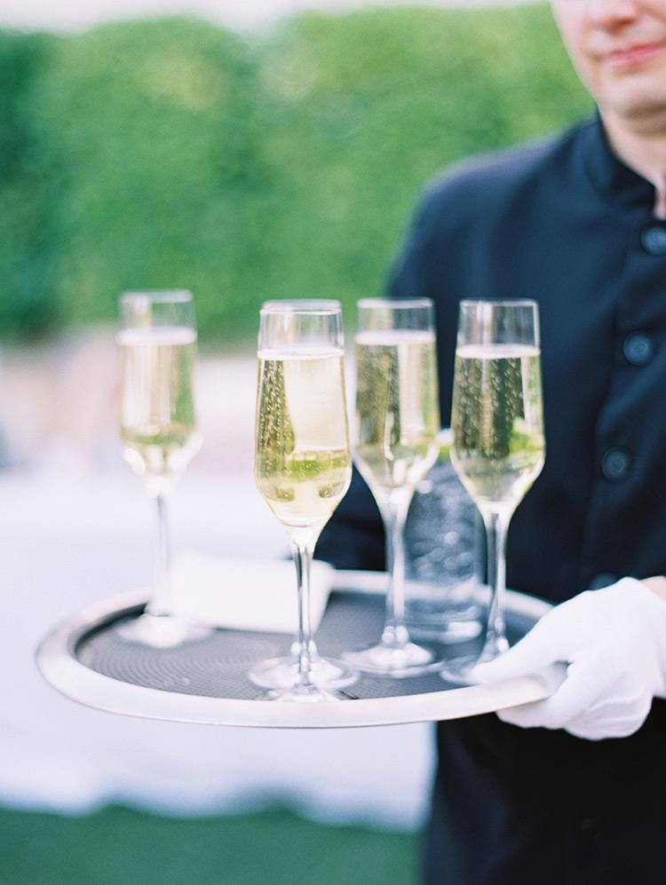champagne at an elegant wedding at Omni Scottsdale Resort & Spa at Montelucia