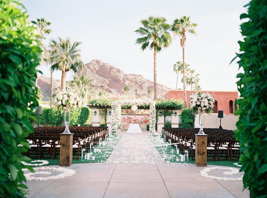 flower-filled outdoor wedding