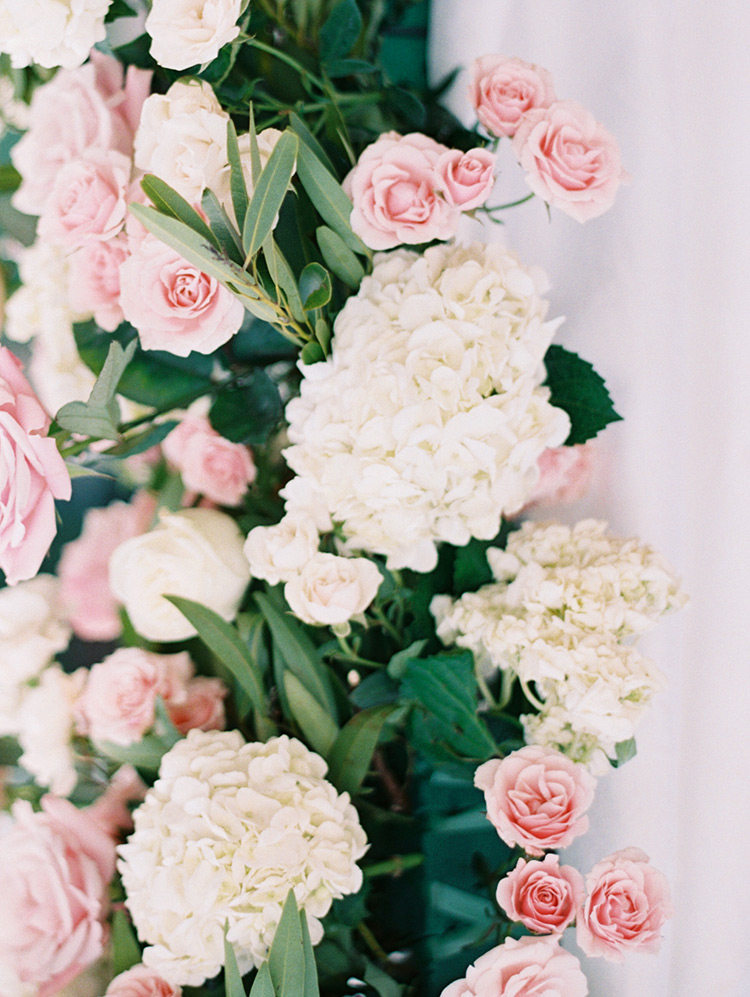 soft pink & cream wedding flowers