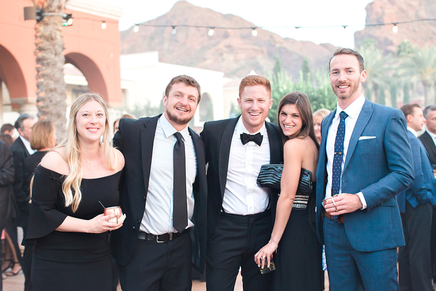 wedding guests at Omni Scottsdale Resort & Spa at Montelucia