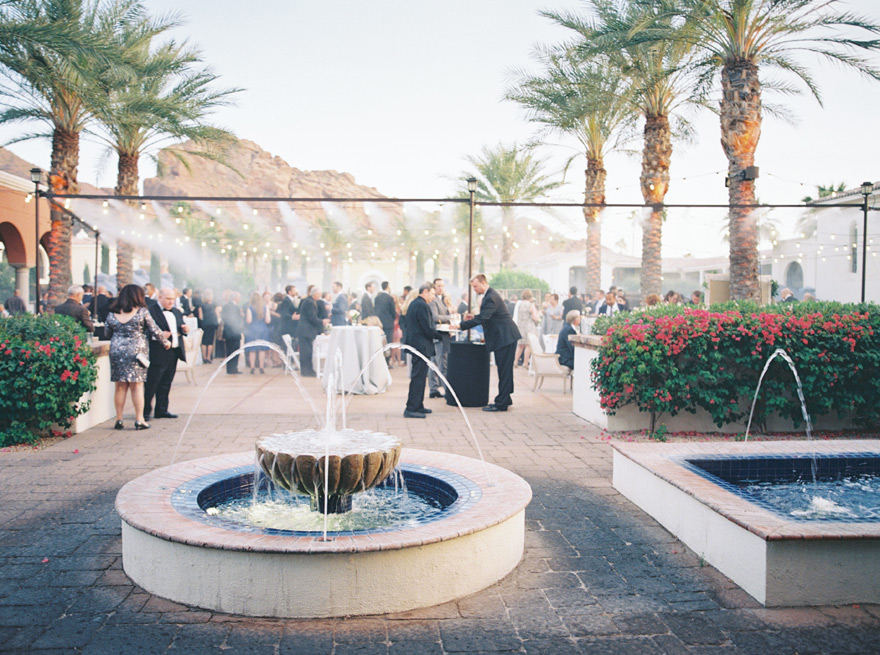 misters cooling a wedding reception at Omni Scottsdale Resort & Spa at Montelucia