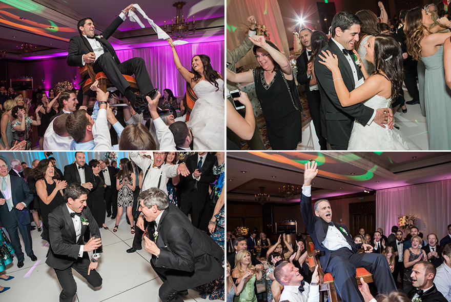 hora and other dancing fun at wedding reception