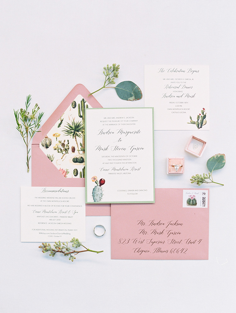 desert themed invitation suite by Celebrations in Paper
