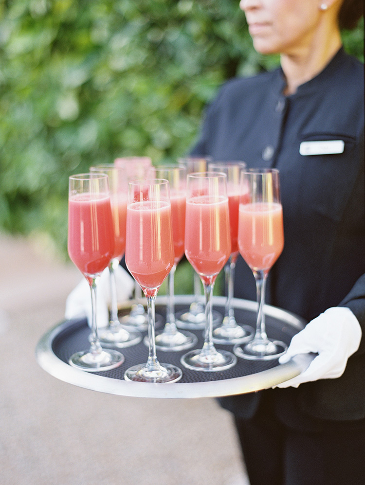 pink drinks for the wedding