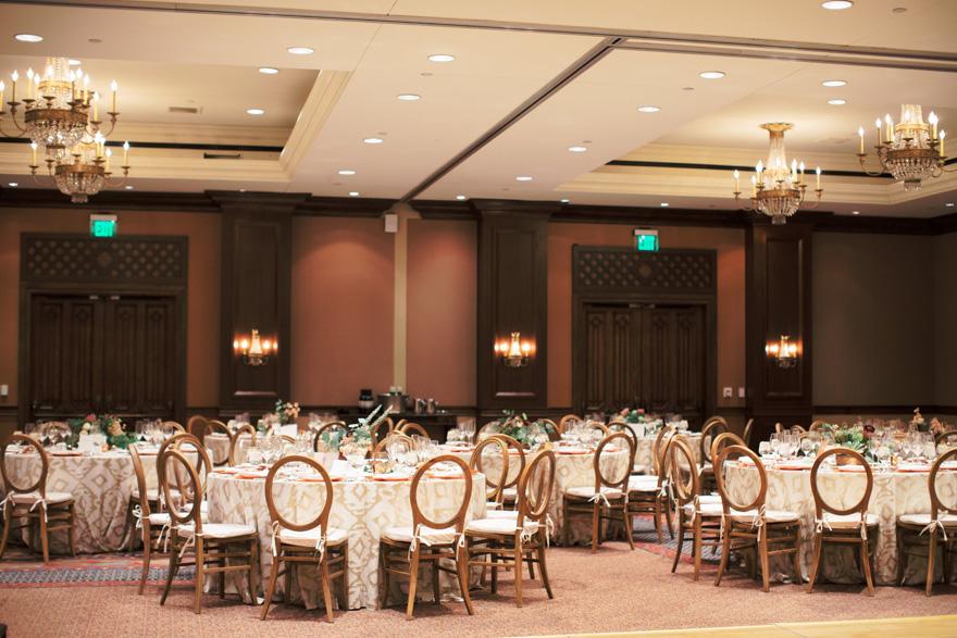 ballroom reception at Montelucia