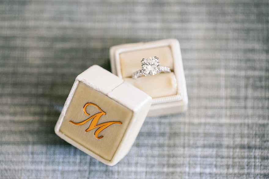 dazzling engagement ring in a Mrs. Box